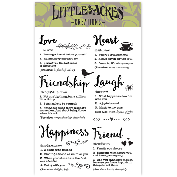 'Friendship Defined' Stamp Set