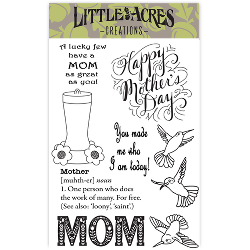 'Mom's Happy Place'  Stamp Set