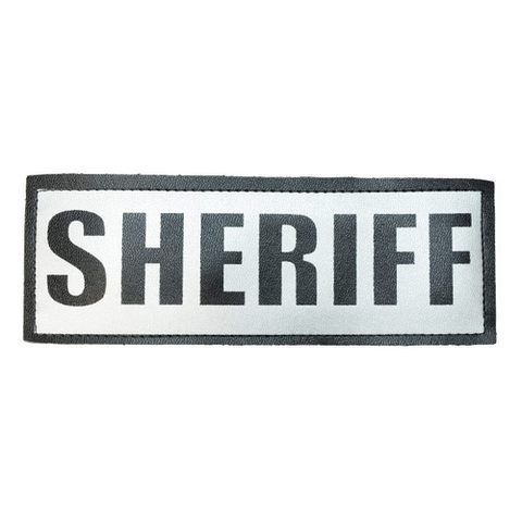 Sheriff Reflective Name Plate