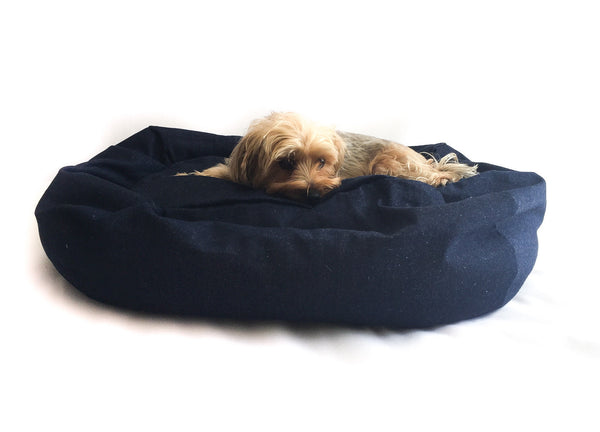 Bolster Dog Bed - Denim | bob+BEAR