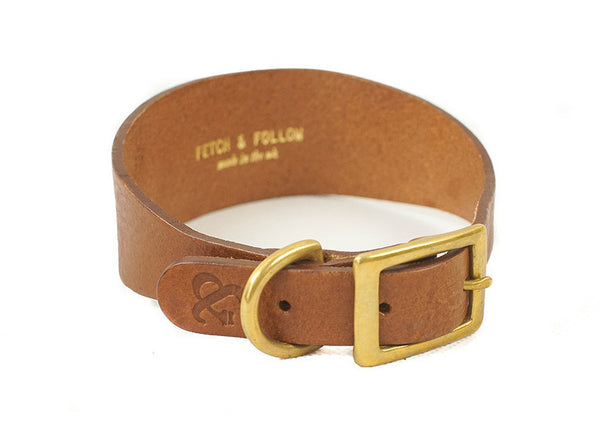 Hound Collar - Brown Leather | bob+BEAR