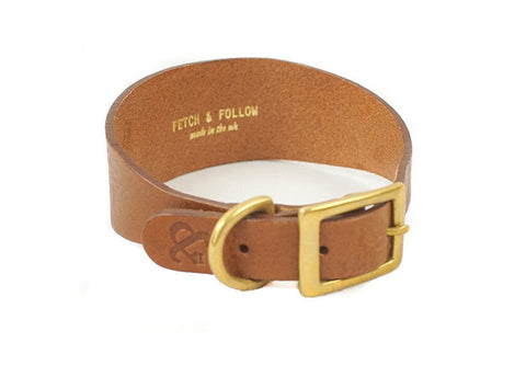 Hound Brown Leather Collar | bob+BEAR