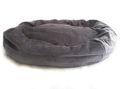 Bolster Dog Bed - Grey Cord | bob+BEAR