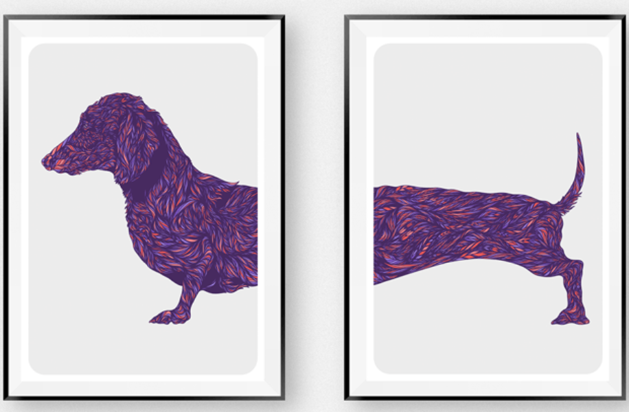Dog Art | Dachshund Duo | bob+BEAR