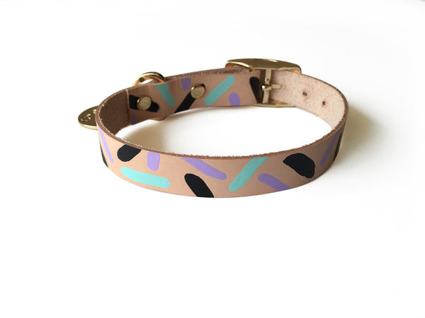 Tiggy Collar Aqua Violet | bob+BEAR