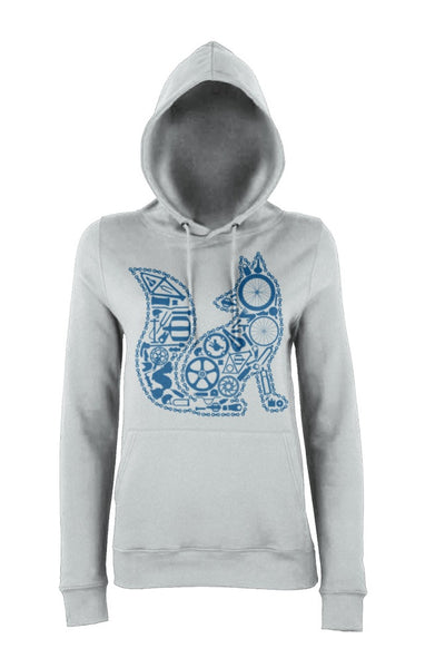 Chain Fox Hoody (Grey-Blue)