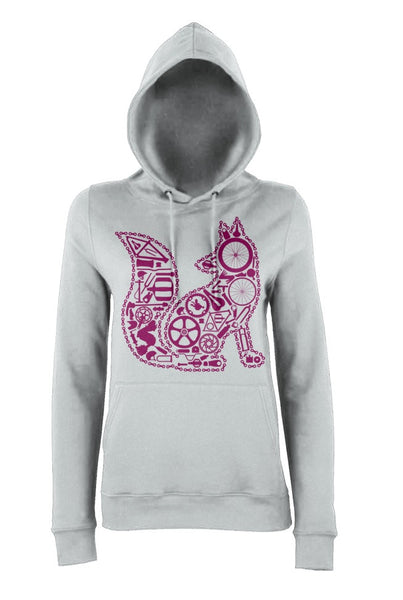 Chain Fox Hoody (Grey-Plum)