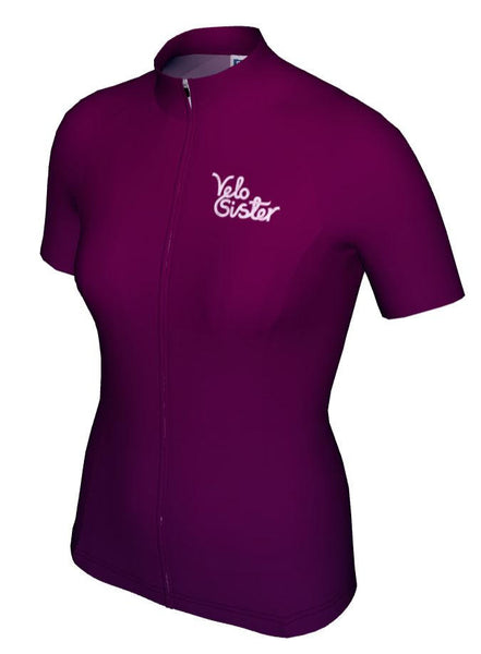 Plum-Purple Women's Cycling Jersey