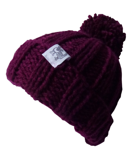 Plum Woolly Hat