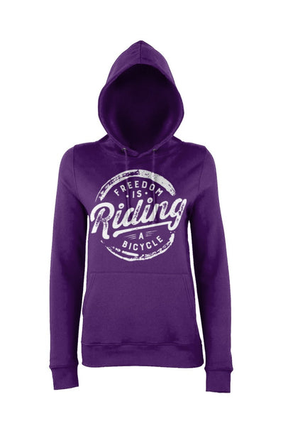 Purple women's hoody for women who love cycling