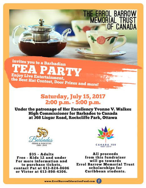 PAST EVENT: Barbadian Tea Party - July 15, 2017