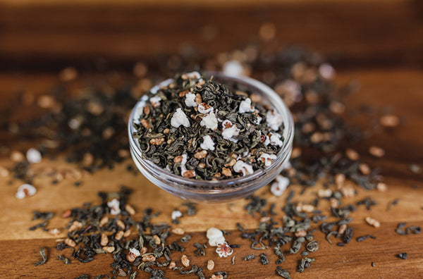 organic loose leaf tea with toasted brown rice