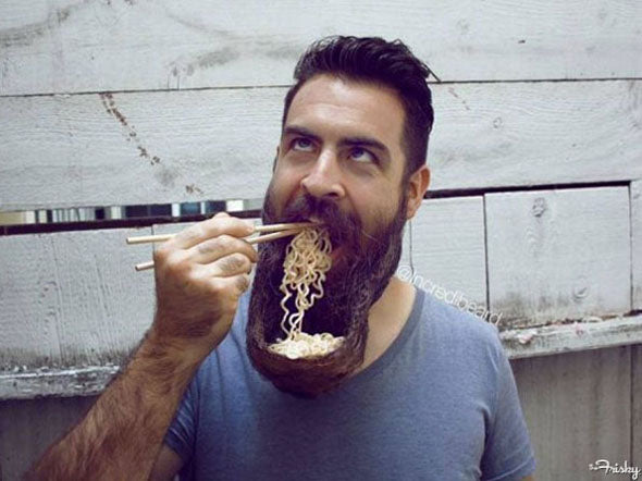 How To Eat With A Beard!