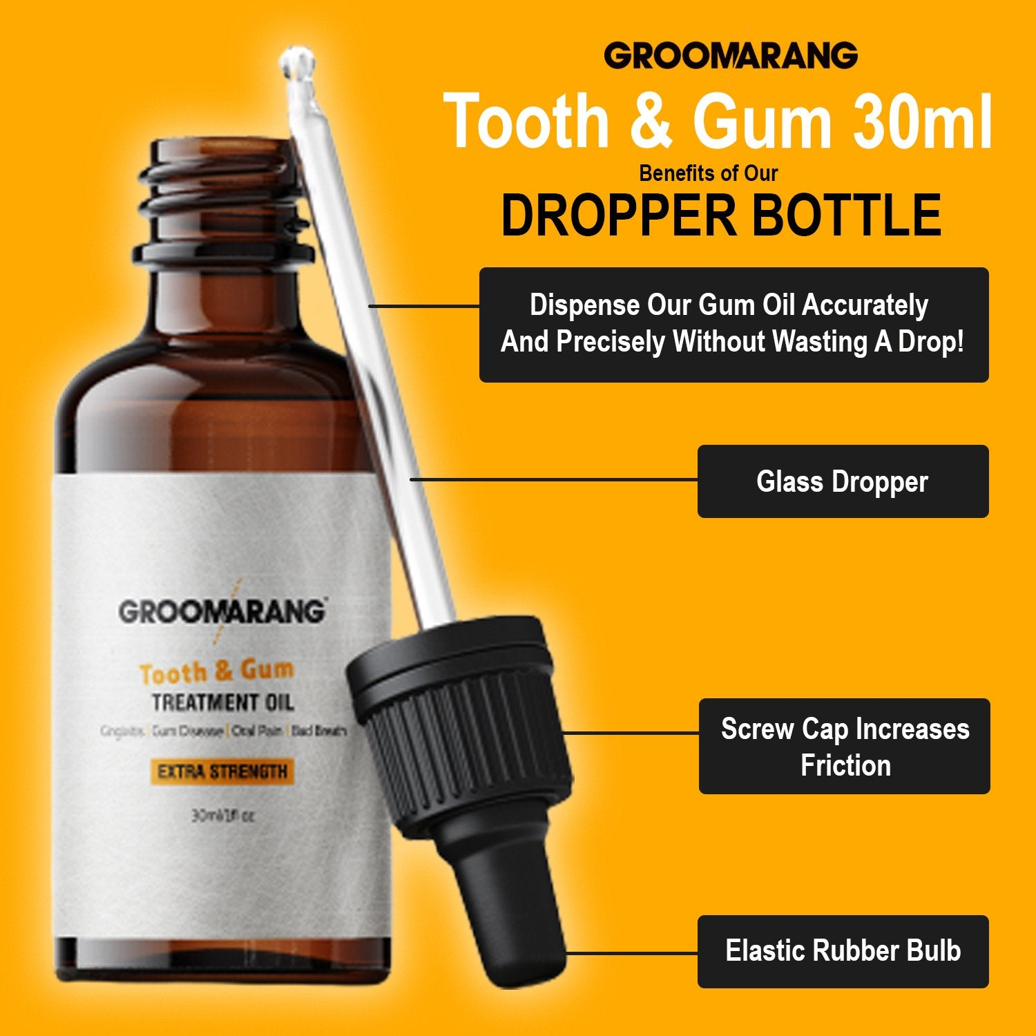 Groomarang Extra Strength Tooth & Gum Treatment Oil 30ml, Mouthwash - Image 3