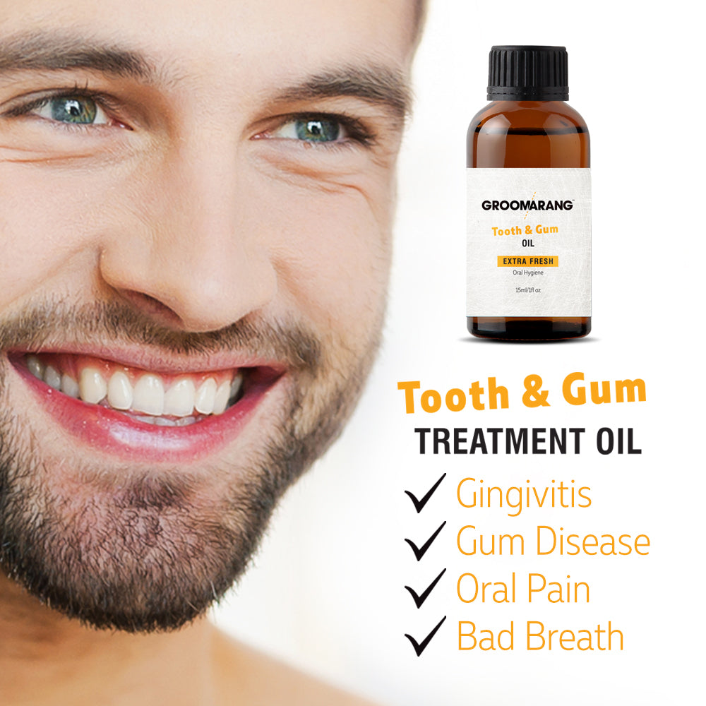 Groomarang Extra Fresh Tooth & Gum Treatment Oil, Mouthwash - Image 2