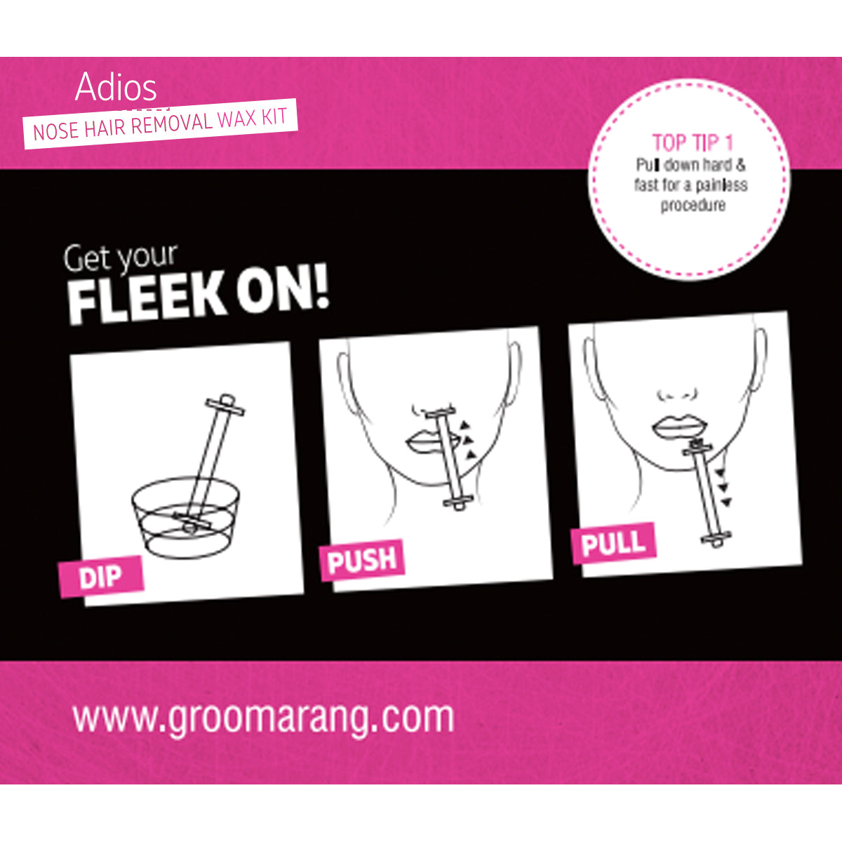 Groomarang For Her- Adios Nose Hair Removal Wax Kit For Her, Waxing Kits & Supplies - Image 2