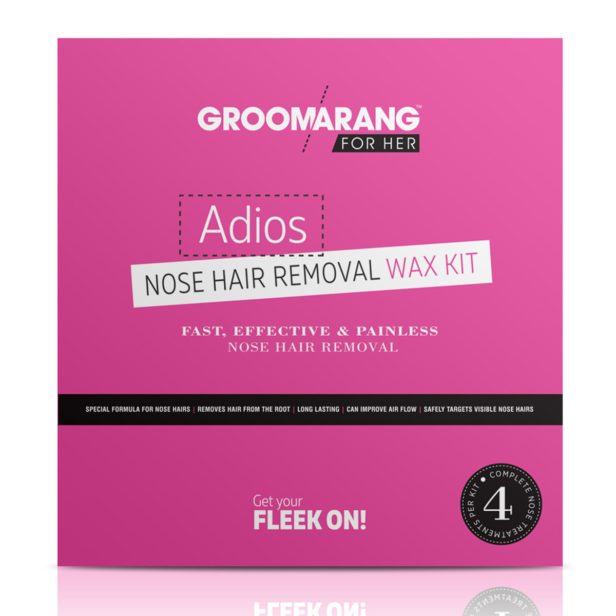 Groomarang For Her- Adios Nose Hair Removal Wax Kit For Her, Waxing Kits & Supplies - Image 1