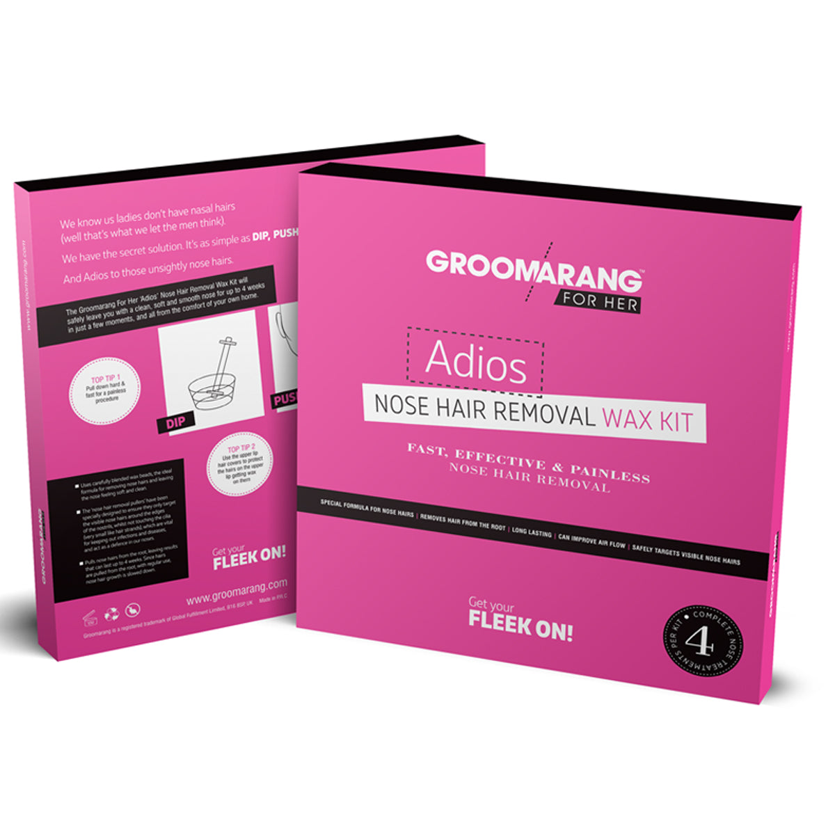Groomarang For Her- Adios Nose Hair Removal Wax Kit For Her, Hair Removal by Groomarang