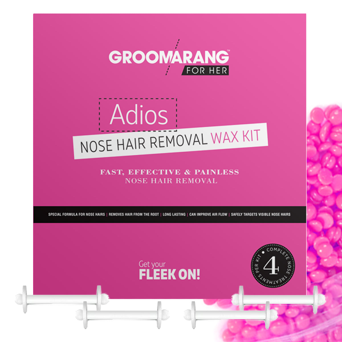 Groomarang For Her- Adios Nose Hair Removal Wax Kit For Her, Waxing Kits & Supplies - Image 4