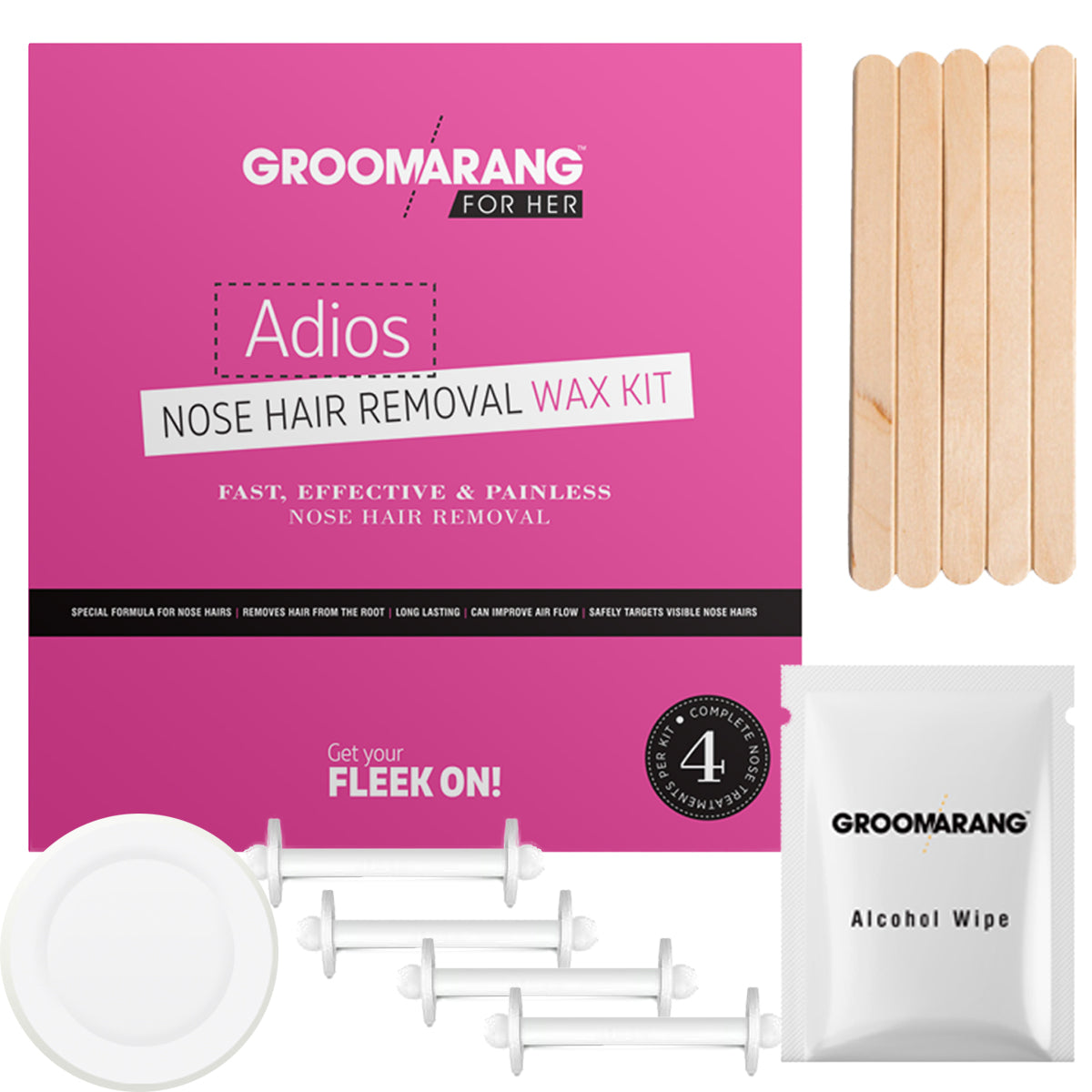 Groomarang For Her- Adios Nose Hair Removal Wax Kit For Her, Waxing Kits & Supplies - Image 5