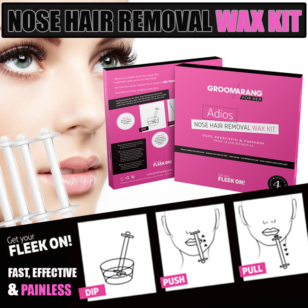 Groomarang For Her- Adios Nose Hair Removal Wax Kit For Her, Waxing Kits & Supplies - Image 6