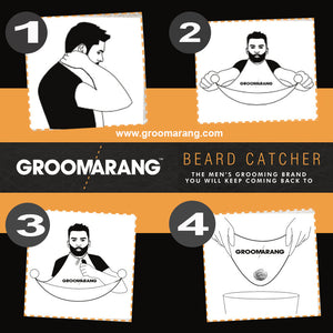Groomarang Beard Catcher- Less Mess, Better Beard