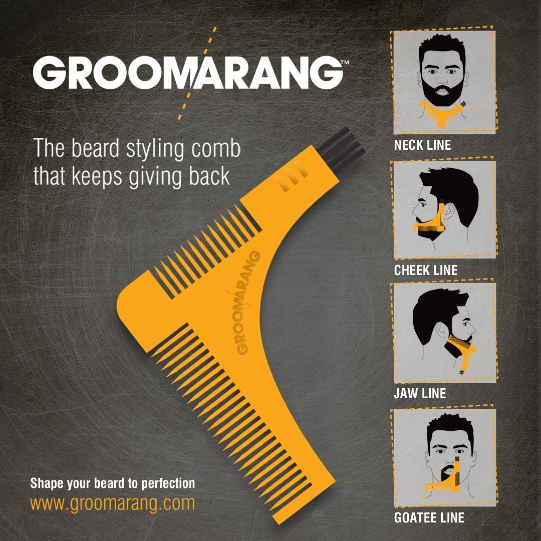Groomarang Beard Shaping & Styling Template Comb, Combs & Brushes - Image 2