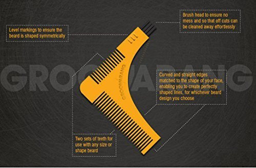 Groomarang Beard Shaping & Styling Template Comb, Combs & Brushes - Image 5