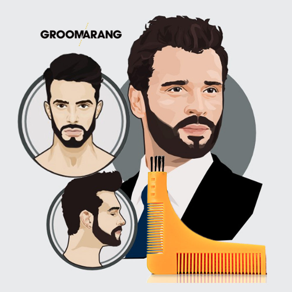 Groomarang Beard Shaping & Styling Template Comb, Combs & Brushes - Image 3