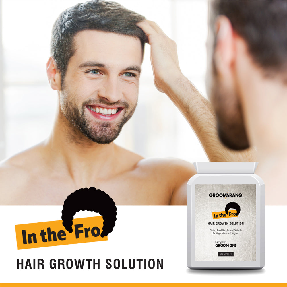 Groomarang 'In The Fro' Hair Growth Tablets, Hair Loss Treatments - Image 2