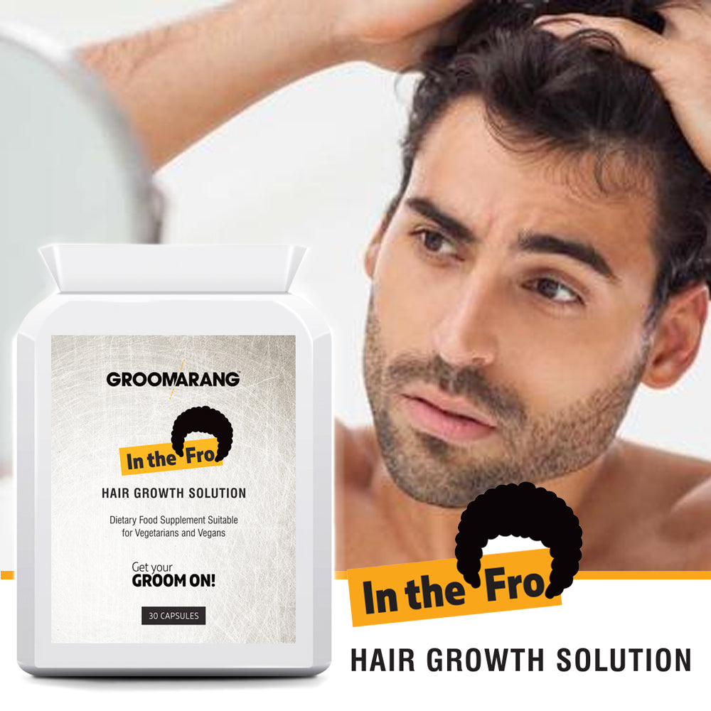 Groomarang 'In The Fro' Hair Growth Tablets, Hair Loss Treatments - Image 3