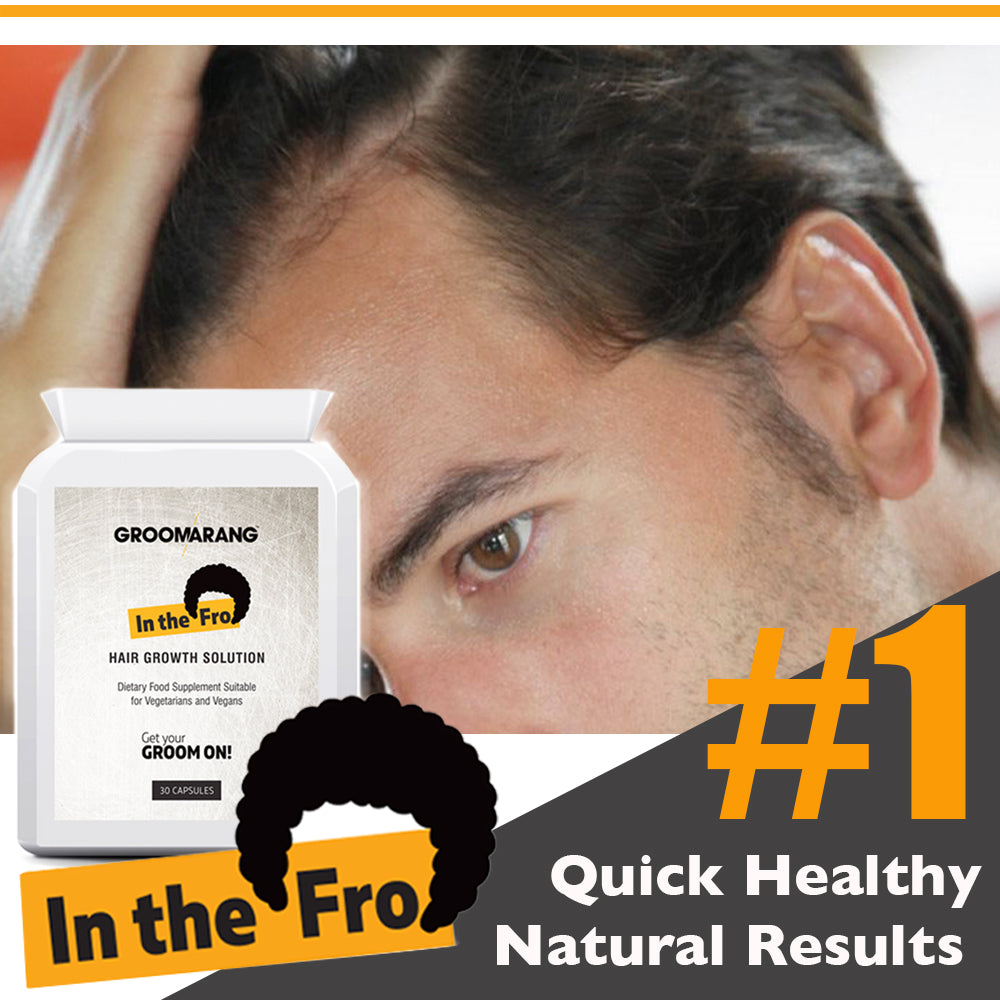 Groomarang 'In The Fro' Hair Growth Tablets, Hair Loss Treatments - Image 4