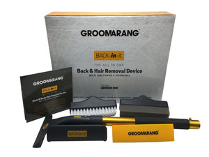Groomarang 'Back In It' Back Shaver and Body Hair Removal Device
