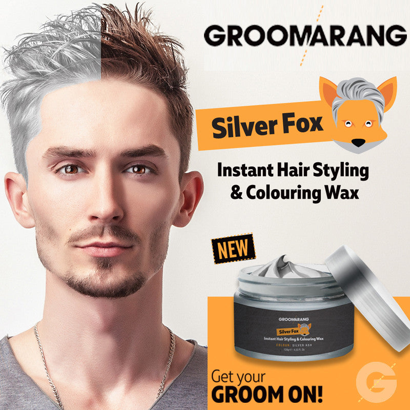 Groomarang Silver Fox Instant Hair Styling & Colouring Wax, Hair Colouring - Image 1