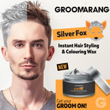 Groomarang Silver Fox Instant Hair Styling & Colouring Wax