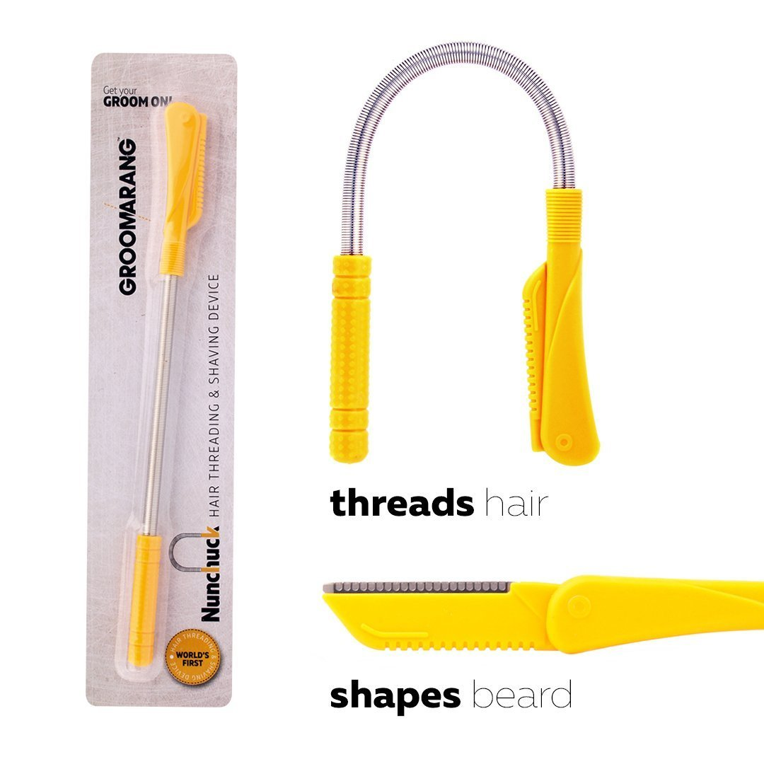 Groomarang Nunchuck Worlds First Hair Threading and Shaving Device by  Groomarang