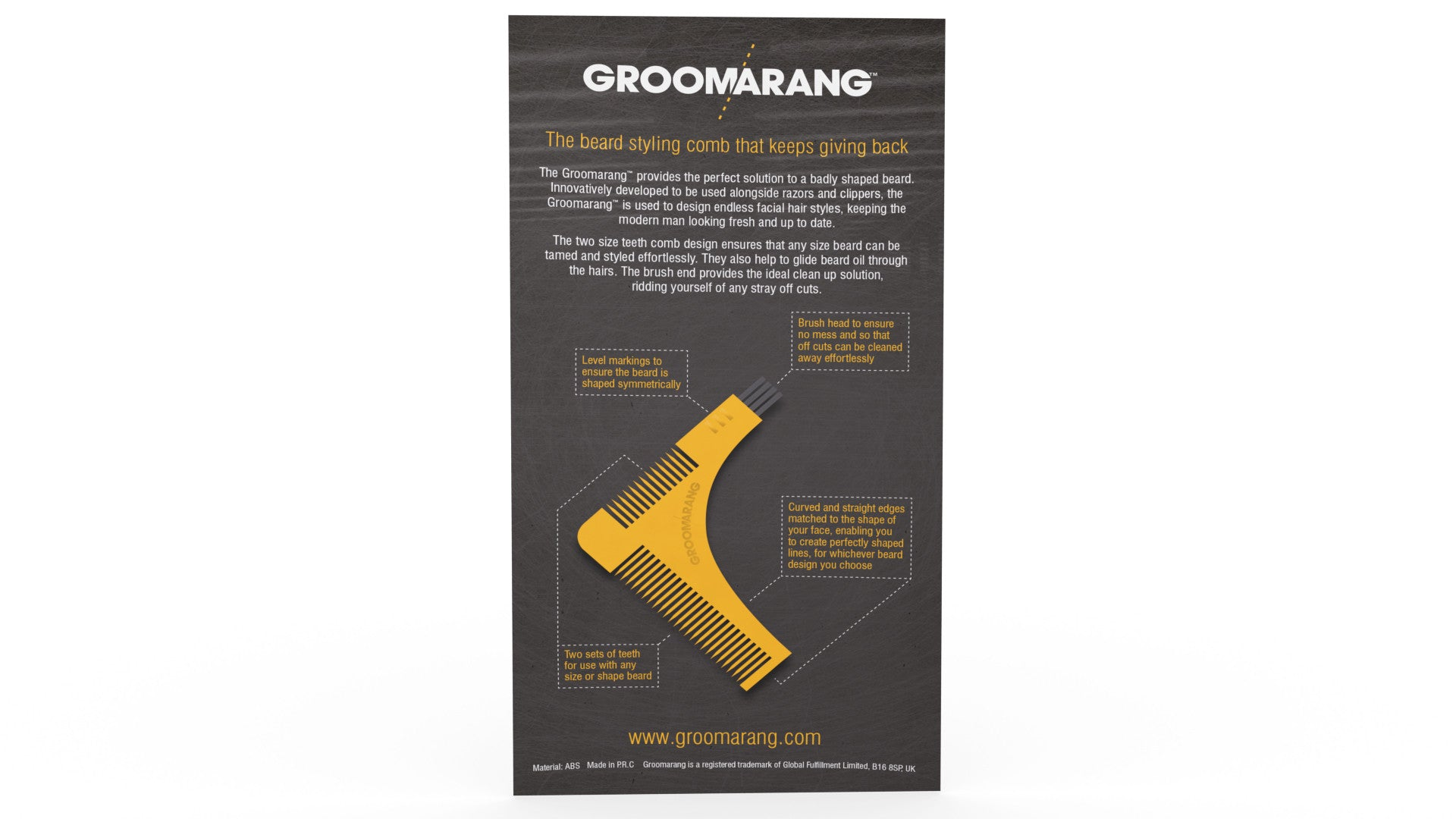 Groomarang Beard Shaping & Styling Template Comb, Combs & Brushes - Image 6
