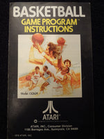 Basketball Instruction Booklet Atari 2600