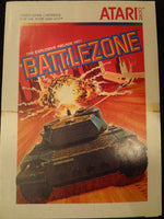Battelzone Instruction Booklet Atari 2600
