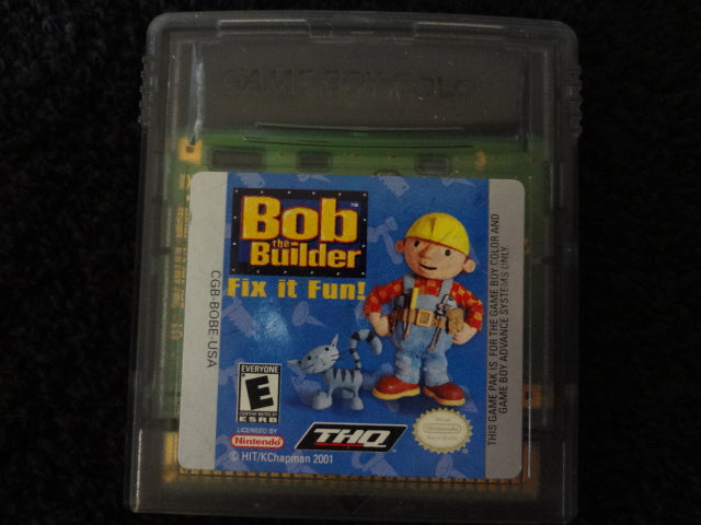 Bob The Builder Fix It Fun Nintendo GameBoy Color