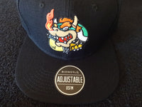 Bowser Core Black Snap Back Hat