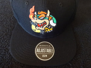 Bowser Core Black SnapBack Hat