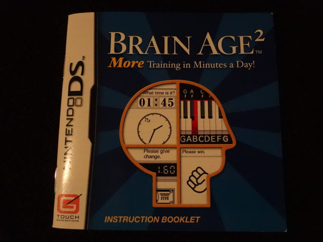 Brain Age 2 More Training In Minutes A Day Instruction Booklet