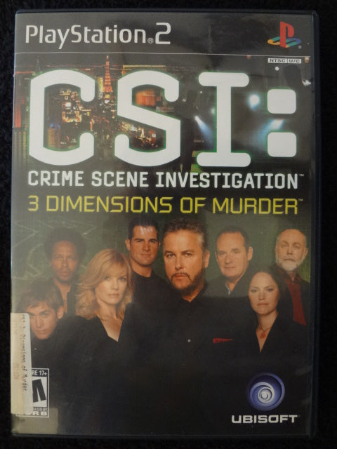 CSI Crime Scene Investigation 3 Dimensions of Murder Sony PlayStation 2