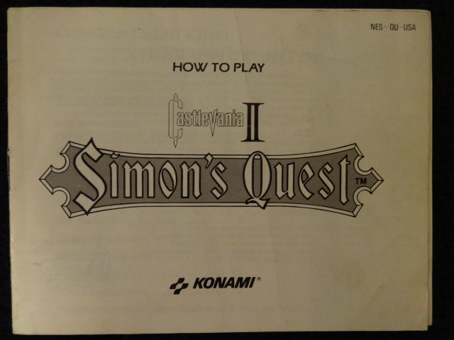 Castlevania II Simon's Quest Nintendo Entertainment System