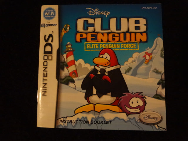 Club Penguin Elite Penguin Force Instruction Booklet Nintendo DS