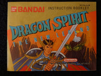 Dragon Spirit The New Legend Instruction Booklet Nintendo Entertainment System