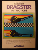 Dragster Instrcution Booklet Atari 2600