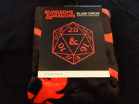 Dungeons And Dragons 20 Sided Dice Fleece Throw