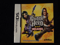 Guitar Hero On Tour Decades Instruction Booklet Nintendo DS